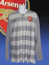ARSENAL Football Club Player Issue Goalkeeper Shirt Grey No Sponsor XL