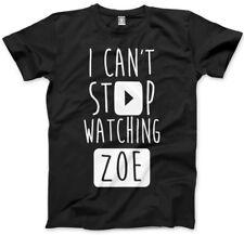 No puedo dejar de ver Zoe-vlogger Star youtubers T-Shirt Varios Tamaños