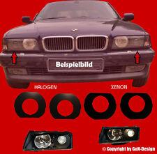 BMW e38 pannelli shrouds destro & sinistro xenon/alogena FANALI NERO NUOVO