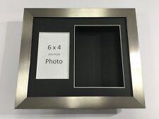 3D deep display box/craft/casting cadre argent-choisir parmi 6 mount couleurs