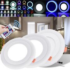 RGB LED Panel Einbau Strahler Deckenlampe Badleuchte Dimmbar Licht+Fernbedienung