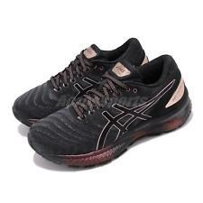 Asics Gel-Nimbus 22 Platinum Black Rose Gold Womens Running Shoes 1012A664-001