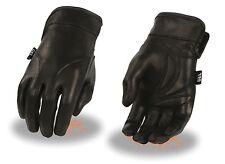 Ladies Light Lined Motorcycle Gauntlet Glove w/ Gel Palm & Wide Cuff