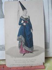Vintage Print,MARGUERITE DE FLORDRE,Ladys Mag+Museum,#56,Costume,1857