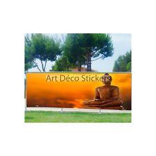 Brise vue imprimé, jardin, terrasse, balcon déco Bouddha 9130
