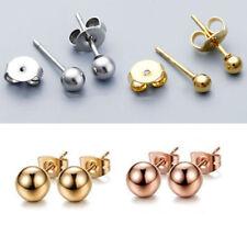 Men Womens Surgical Steel Stud Earrings Ball Punk Body Piercing Jewelry Decor
