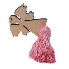 Creative Fairy Design Tassel Beads Wooden Pendant Wall Hanging Ornaments N7