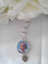 Personalised Wedding Bouquet Photo Charm, memory charm, memorial charm, Round