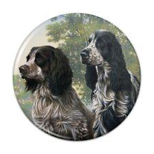 Pair of English Cocker Spaniel Dogs Pinback Button Pin Badge