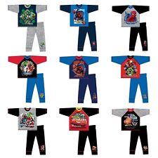 DISNEY PYJAMAS NEW HEATSEAL WINTER WARM PJS NIGHTWEAR BOYS KIDS 4-10 YEARS