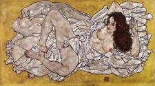 EGON SCHIELE RECLINING WOMAN  EXPRESSIONISM  ART GICLEE PRINT FINE CANVAS