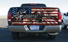 Machine Gun & Flag Truck Tailgate Wrap Vinyl Graphic Decal Sticker Wrap