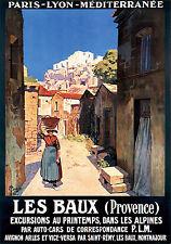 Affiche chemin de fer PLM - Les Baux de Provence