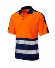 Leo Workwear watersmeet p10 Hi Vis Polo Classe 2 snickersdirect navyorange