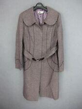 Women wool blend trench coat outwear color LT grey purple size US XS new