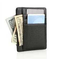 Men Leather Front Pocket Wallet Slim Wallets Card Pocket with Packing Box