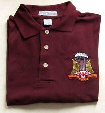 Canada Canadian Airborne Parachutists Paratrooper Golf Shirt