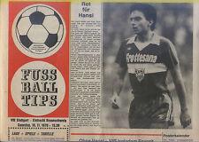 BL 78/79 VfB Stuttgart - Eintracht Braunschweig TIPS (18.11.1978)
