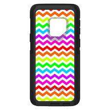 OtterBox Commuter for Galaxy S6 S7 S8 S9 S10 PLUS Rainbow White Chevron Stripe