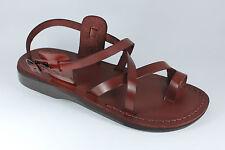 Romain Biblique Chaussures De Jésus Sandales En Cuir Marron Pour Hommes 36-46