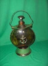 Vintage Brass Glass Anchor Lantern Music Box