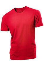 HANES Tinta Unita Rosso Uomo Organic Cotton Tee T-shirt Maglietta S-XXXL