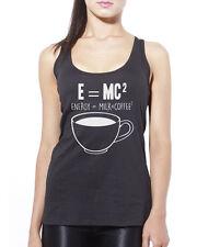 E = MC2 énergie = lait x café squared débardeur femme tank top