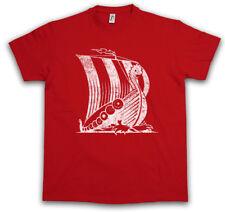 VIKING SHIP V T-SHIRT Drachenschiff Langboot Drachen Schiff Boot Wikinger