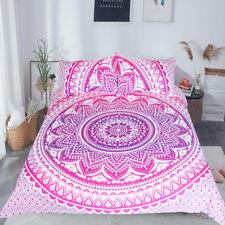 Pink Mandala Flower Duvet Cover Set With Pillowcase Bohemia Girls Bedding Set Qu
