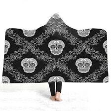 Gothic Cool Skull Dreamcatcher Motor Fleece Hooded Blanket Sofa Throw 10 designs