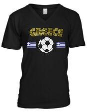 Greece Greek National Country Pride Ethniki Ellados Soccer Mens V-neck T-shirt