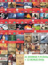 21 P.M DVDs + 12 Bonus DVDs Wissen, Technik, Biopic, Geschichte, Mystery,Sci-Fi