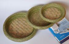 bamboo basket bamboo plate bamboo handicrafts double-layer premium quality手工编织竹篮