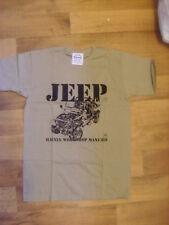 Da Uomo Haynes Officina Proprietari Manuale Khaki T-shirt, S/M/L, NUOVO, JEEP cj17