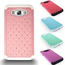 For Samsung Galaxy E7 Case Soft & Hard Diamond Bling Hybrid Protective Cover