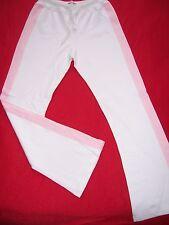 PANTALON de Survêtement fille neuf LADY DIA taille 14ans coloris Blanc - Rose