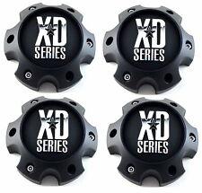 "4x XD Matte Black Center Caps 5.75"" 6 Lug XD796 Revolver XD797 Spy XD798 Addict"