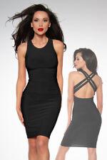 Cocktail-Kleid mit Überkreuz-Rücken-Trägern