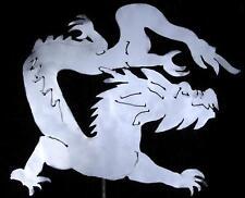 ORIENTAL DRAGON Mythology Metal Garden Yard Art Stake