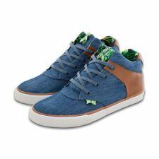 Djinns Shoes Womens Chunk Denim Aloha Indigo High Top Sneakers
