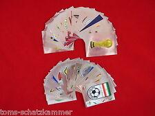 Panini WM 2006 alle 32 Wappen + Nr. 1 - 4 = 36 Glitzer Sticker komplett WC 06