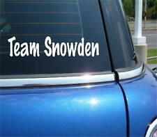TEAM SNOWDEN EDWARD NSA SECRET FUNNY DECAL STICKER ART CAR WALL