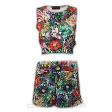 Mujer Camiseta Corta Pantalones Cortos Set Floral Sin Mangas Informal Verano