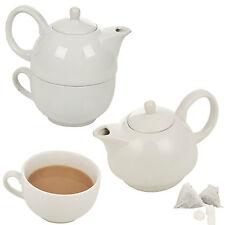Porcelain Ceramic Afternoon Tea Coffee Teapot Jug Pot & Mug Milk Hot Drink Table