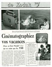 Publicité ancienne Kodak cinématographiez vos vacances 1935 issue de magazine