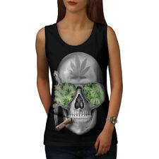 Skeleton Smoke Weed Women Tank Top NEW | Wellcoda