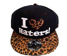 I Love Haters Snapback Tapas, Leopardo Béisbol Pico Plano Sombreros, Hip Hop Negro