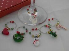 NATALE design VINO vetro charm con scatola regalo ~ Gratis P&P