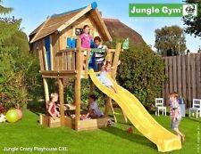 Torretta gioco Crazy Playhouse XL con scivolo per bambini in legno Jungle Gym