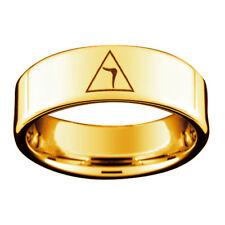 Gold Tungsten Masonic rings Scottish Rite - Freemason 14th Degree Grand Elect